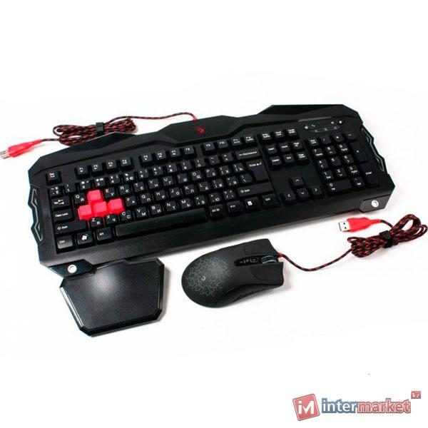 Комплект A4Tech B2100 Bloody (Bloody Keyboard+Bloody A9 Mouse)