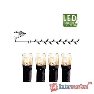Гирлянда цепочка 4,0м теплобелая кабель черный 10м 40диодов LED outdoor