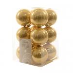 Шар золотой глянцевый d6см 12шт/уп